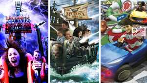 Choose a theme park or attraction and combine it with the hotel of your choice to design the perfect break.
